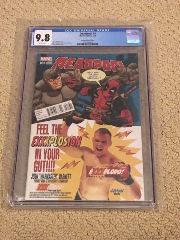 Deadpool 1 CGC 9.8 White Pages (Classic WWE Variant!!)