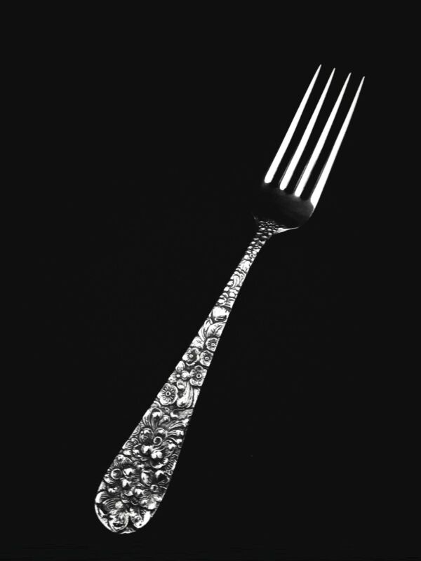 "Stieff Rose Sterling Silver Dinner or Luncheon Fork - 6 7/8""  🍴"