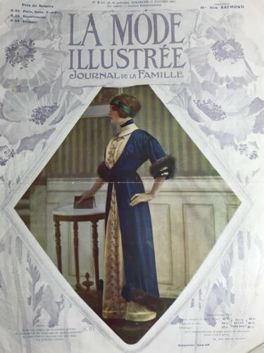 Edwardian MODE ILLUSTREE January 21,1912+ sewing PATTERN - Visiting dresses,coat