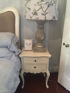 French provincial shabby chic bedroom set King table bed drawers Woolloongabba Brisbane South West Preview