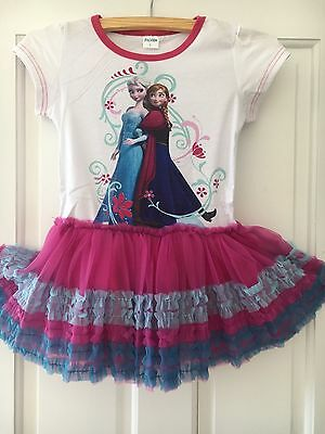 UK Disney Frozen Girls Anna Elsa Priness Party TUTU Dress Outfit