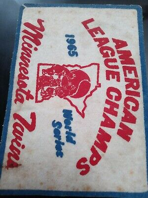 Minnesota Twins  American League 1965 Champs Sew On Patch (COOL LOOK)