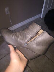 Wedge heel dress boots