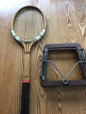 Vintage Dunlop Maxply Tennis Racket And Dunlop Press