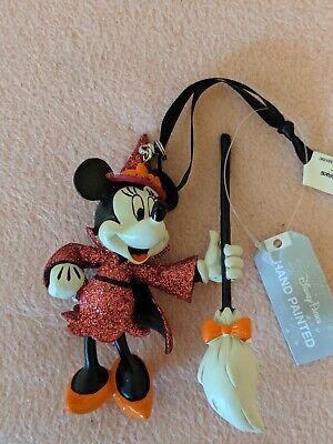 Disney Parks Minnie Witch Halloween Holiday Ornament New w Tag