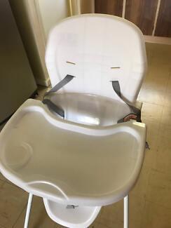 like new bloom fresco high chair baby white frame orange rrp750