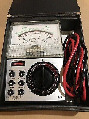 Micronta Rs 20000 Ohms Volt Multimeter 22-202u W. Manual Leads Case