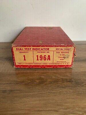 Vintage Starrett Dial Test Indicator 196a In Original Box