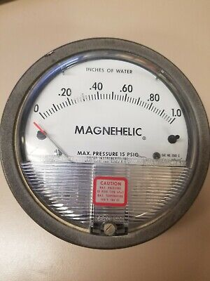 Dwyer Magnehelic Pressure Gauge 2001 C- Inches Of Water 0-1.0