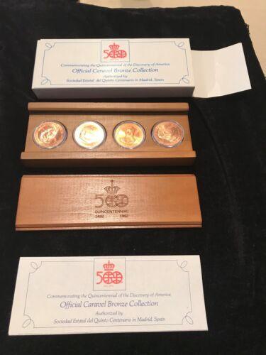 1992  Caravel Bronze Medals (4  Medal Set) - 500th Anniv Quin-centennial