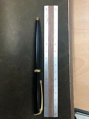 Hermes Black Gold Trim ballpoint pen
