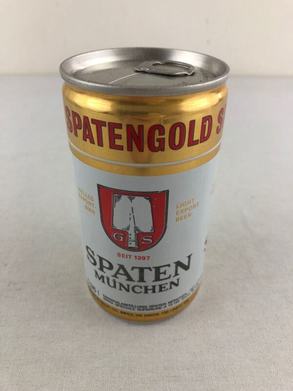 Spaten Monoco Brewed in Italy Bottom Opened Aluminum Beer Can