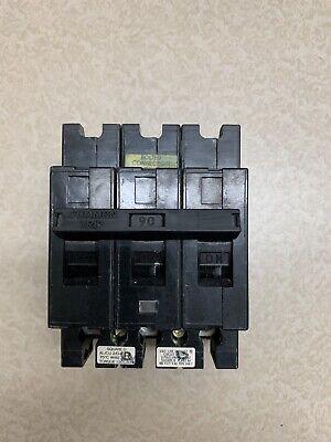 Square D Sq D Ehb34090 3 Pole 90a Circuit Breaker Reconn 1 Yr Warranty