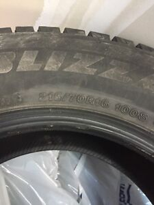 Bridgestone Blizzak Winter Tires. 215/70R16