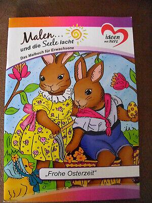 1 Malbuch für Erwachsene 10 Seiten frohe Ostern DIN A4 Neu von Karin Jittenmeier
