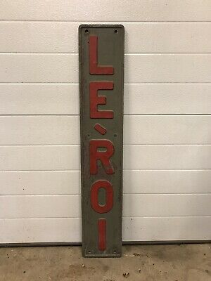 Antique Vintage Leroi Le-roi Engine Machinery Emblem Badge Sign