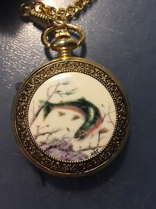Franklin Mint Collection Pocket Watch (FISH)