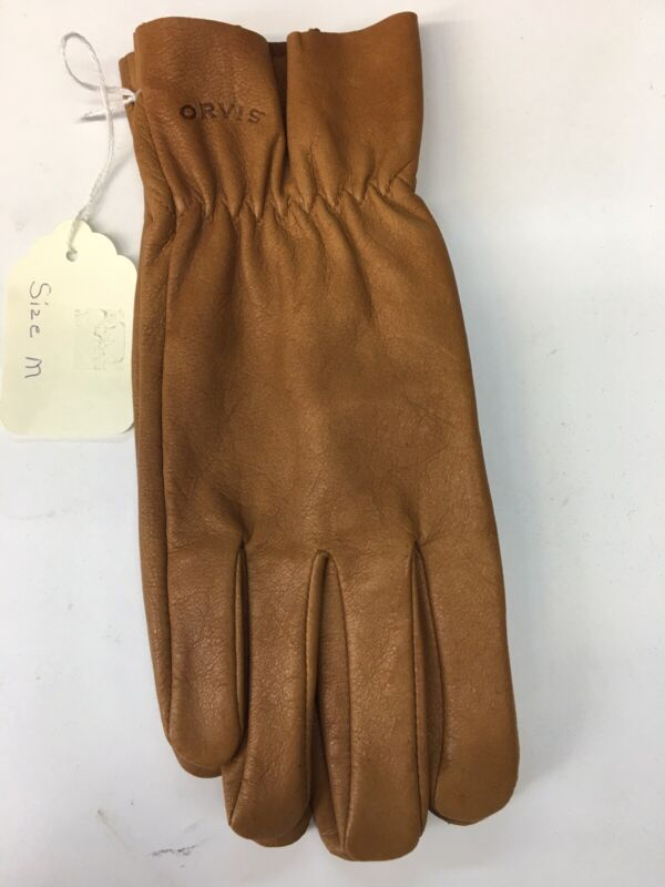 NWT Orvis Mens Uplander Shooting Gloves Rugged Deerskin Size Medium $79
