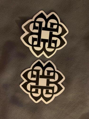 "Lot (2) BREAKING BENJAMIN 2"" x 2"" Logo Stickers Black White FAST! FREE SHIP!"