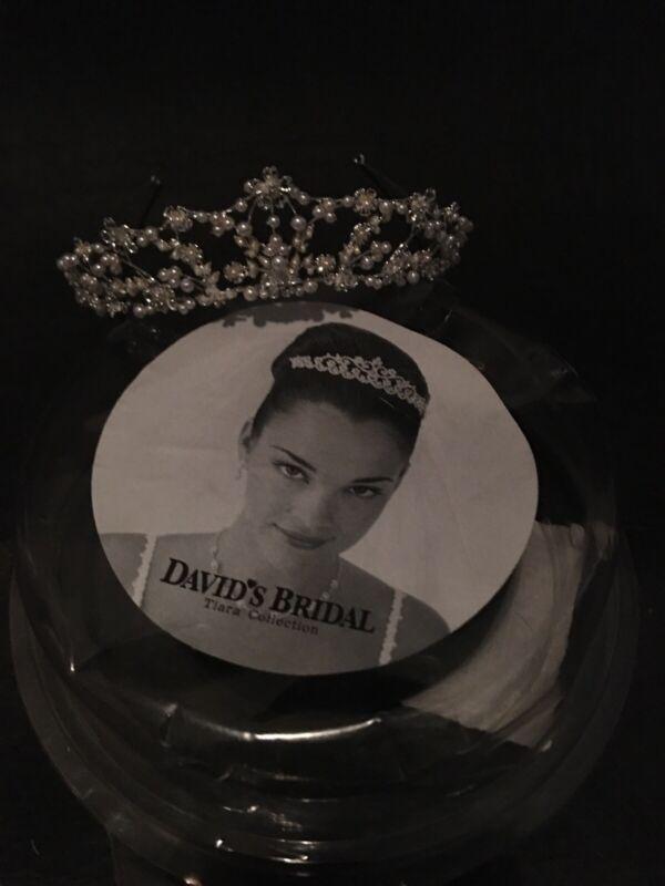 David's Bridal Tiara Silver Crown