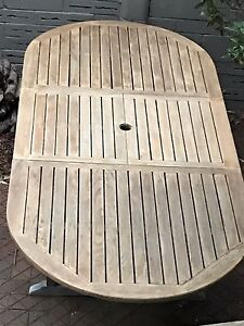 Sydney teak expendable patio/outdoor table Castle Cove Willoughby Area Preview