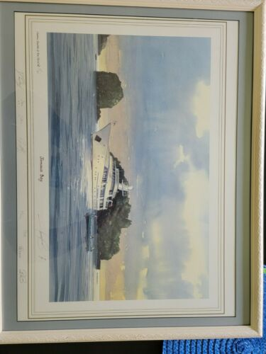 Classic Yachts Of The World Jamaica Bay Harry Clow Signed Print 167/350 - $100.00