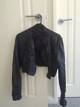 Ladies Faux Leather Cropped Jacket Watermans Bay Stirling Area Preview