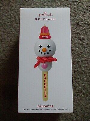 Hallmark Keepsake 2019 Ornament Snowman Daughter Cake Pop Daughter Hallmark Ornament