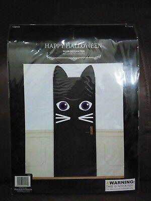 Happy Halloween Black Cat Door Decoration
