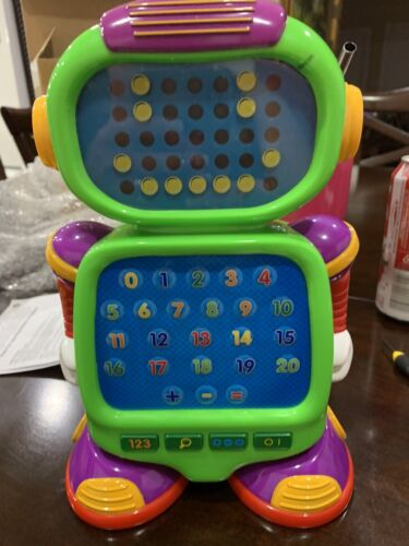 115244 touch and learn numberbot electronic math
