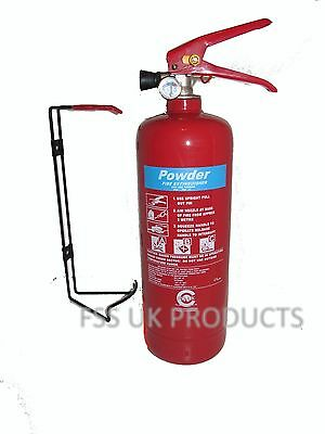 OFFER !!! 2 KG DRY POWDER ABC FIRE EXTINGUISHER HOME OFFICE CAR VANS KITCHEN