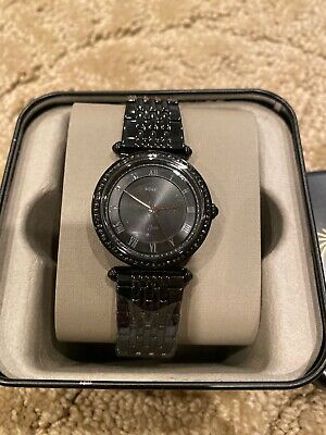 Fossil Lyric Three Hand Black Stainless Steel Watch ES4713 NWT NEW