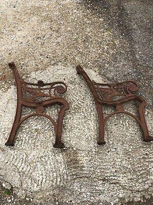 antique victorian cast iron garden bench ends