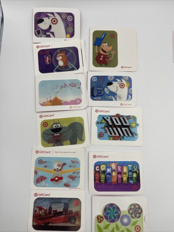 Collectable Lenticular Target Gift Card $0.00 No Value    (lot Of 11)