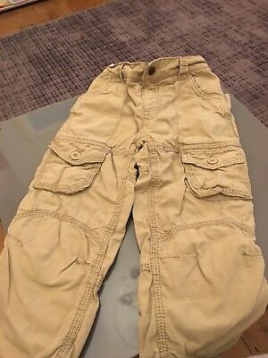 Lovely TU Sainsburys boys cotton lined cargo trousers age 3-4 years