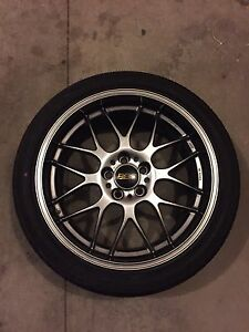 "Authentic BBS RG-R 19"" wheels with Yokohama Envigor 5x114"