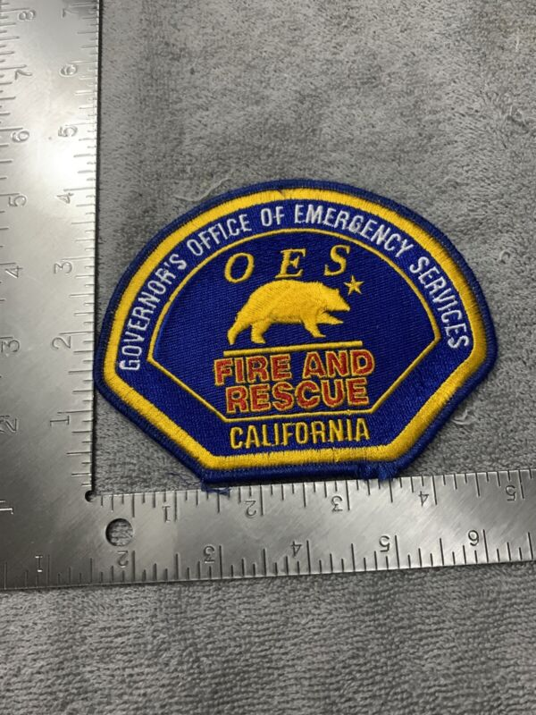 Governors Office Of Emergency Services OES Fire & Rescue CA Vintage Patch New