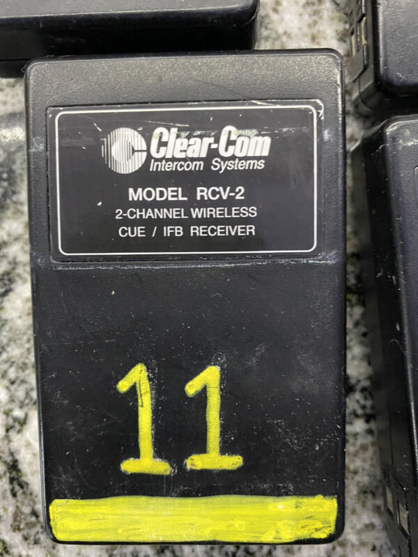 16 Clear Com 2 Channel RCV-2 Wireless Receivers