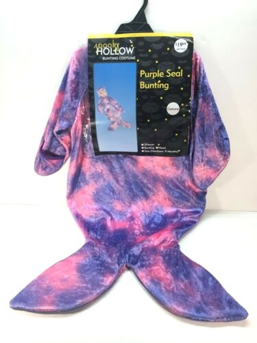 Purple Seal Furry Spooky Hollow Baby Bunting Costume Halloween Newborn-9 Months