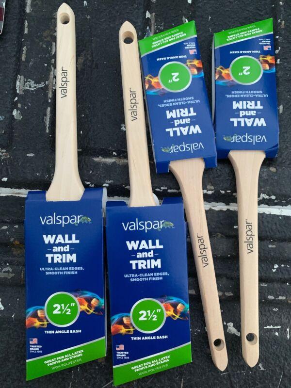Lot Of 4 Valspar Paint Brushes