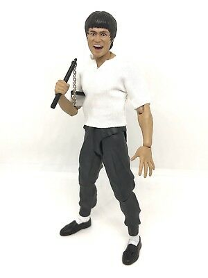 Nox Bl T  Figlot 1 12 Fabric White Top For Shf Bruce Lee  No Tracking