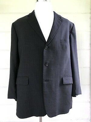 Brooks Brothers BrooksEase 50 R Dark Charcoal Stripe Suit Sports Jacket  CL24 Charcoal Stripe Suit Jacket