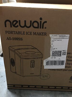 Newair Portable Ice Maker - 28lb Per Day 3 Cube Size Touch Pad Control Ss New