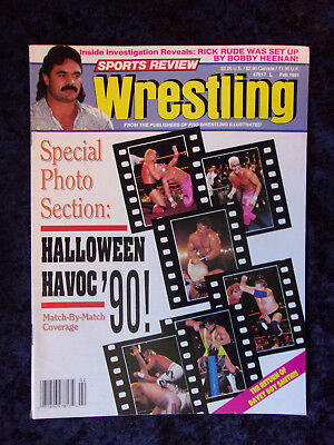 Halloween Review (Vintage Sports Review Wrestling Magazine February 1991 Halloween Havoc' 90!)