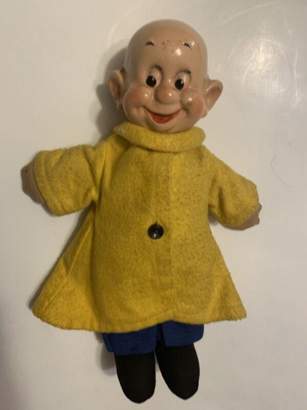 "Vintage IDEAL Composition Dopey Doll 11"" 1937 Snow White + The Seven Dwarfs HTF"