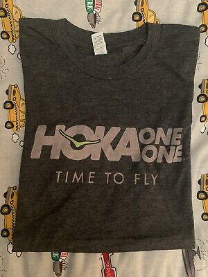 HOKA ONE ONE Unisex T-Shirt - Grey - SMALL
