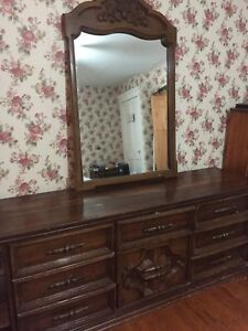 Two Wood chest of drawers includes mirror