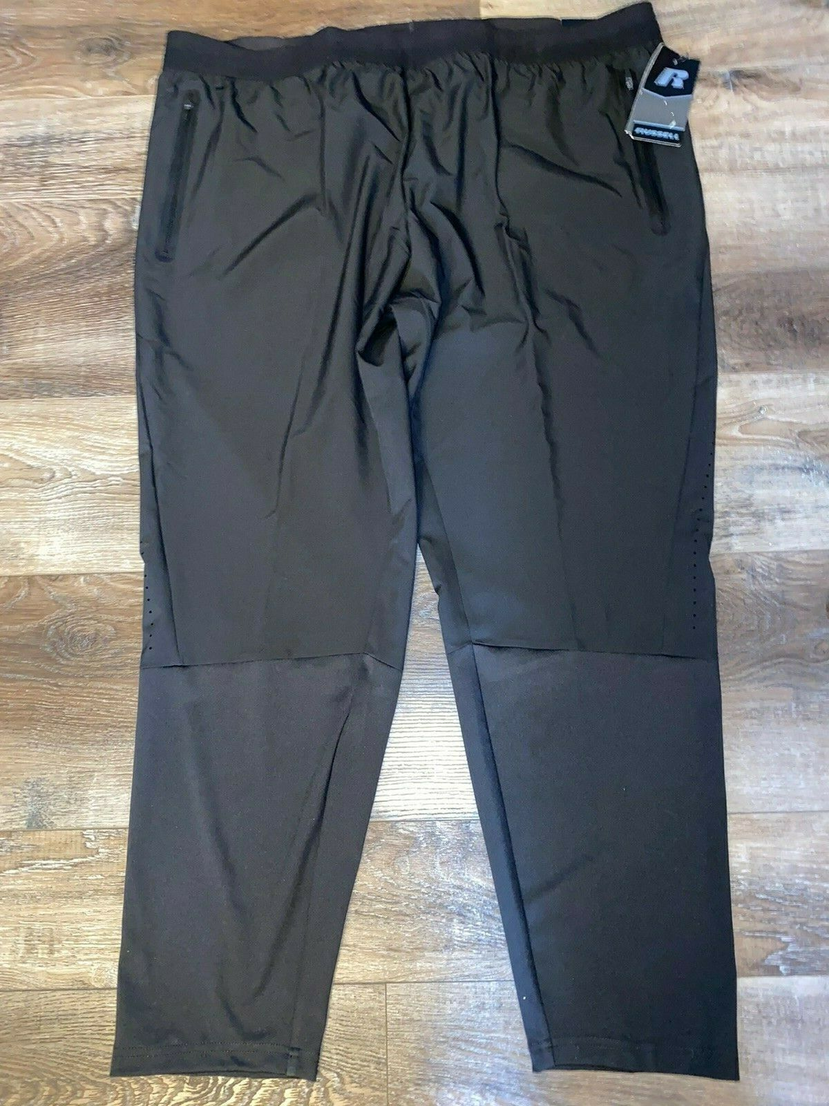 Russell ~ Men's Black Track Wind Pants Athletic Training Fit
