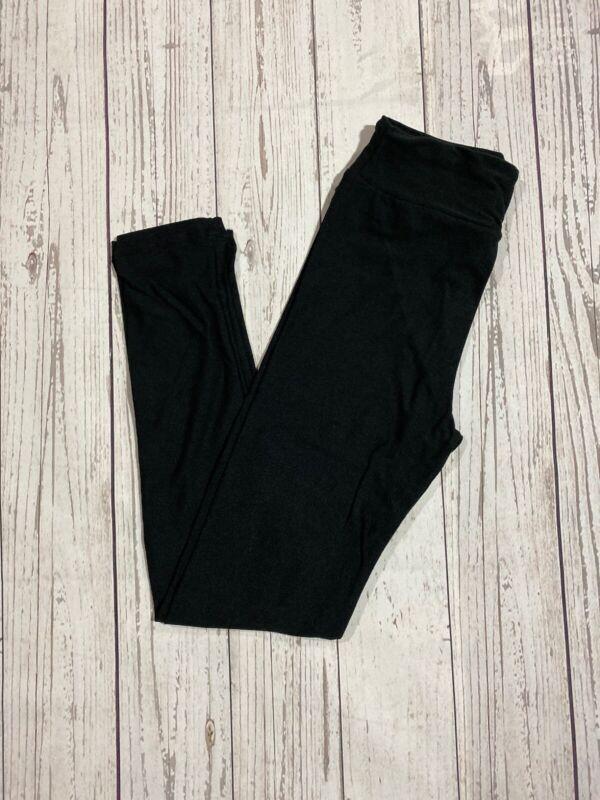 L/XL Lularoe Kids Leggings Solid Black NWT