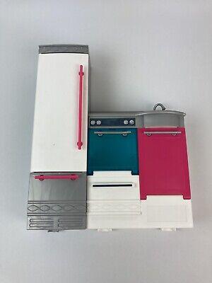 Mattel Barbie Dream House 2015 Replacement Part Kitchen (Refrigerator/Oven/Sink)